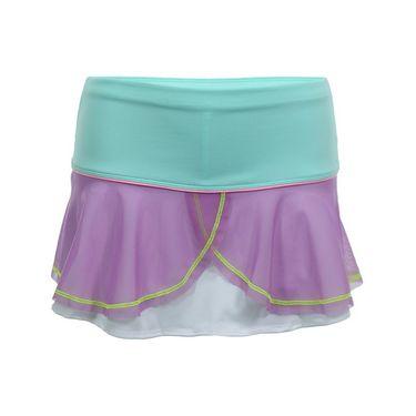 Lucky in Love Girls Mesh Flounce Skirt - Orchid