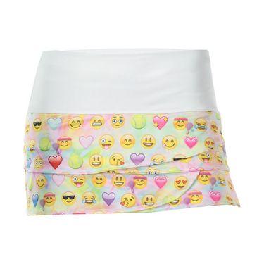 Lucky in Love Girls Tie Dye Emoji Scallop Skirt - Multi