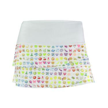 Lucky in Love Girls Rainbow Emoji Skirt - Multi Color