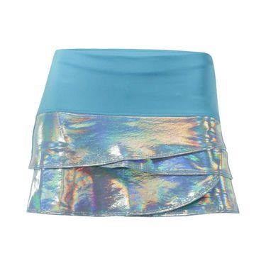 Lucky in Love Girls Core Tuxedo Scallop Skirt - Ocean Blue