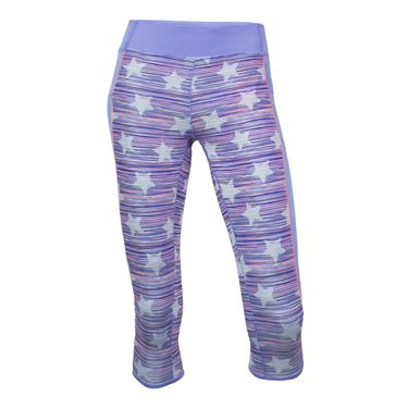 Lucky in Love Girls Star Gazer Reaching Stars Cropped Legging - Lilac