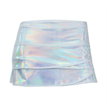 Lucky in Love Girls Printed Dizzy Scallop Skirt - Silver
