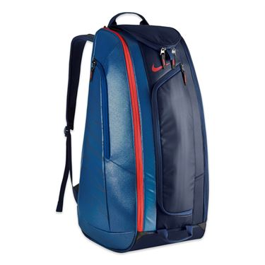 Nike Court Tech 1 Tennis Bag - Midnight Navy/Court Blue/Lite Crimson