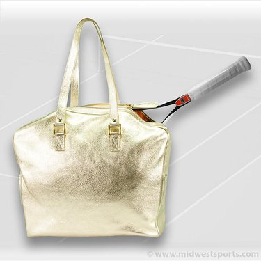 Cortiglia Belvedere Gold Leather Tennis Bag