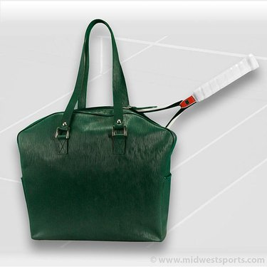 Cortiglia Belvedere Green Leather Tennis Bag