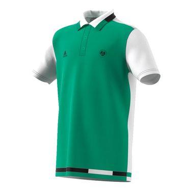 adidas Boys Roland Garros Polo - Core Green/White