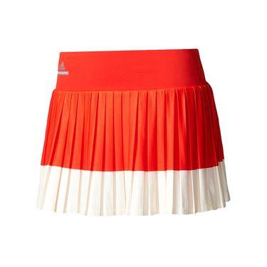 adidas Stella McCartney Pleated Skirt - Red/White