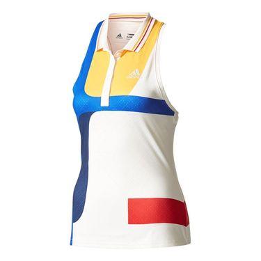 adidas NY Colorblock Tank - White