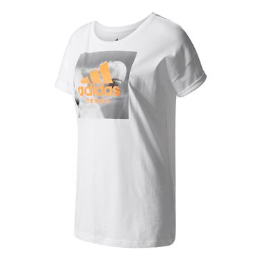 adidas Category Tennis Graphic Tee - White