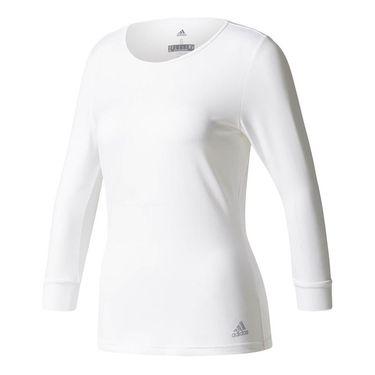 adidas Advantage 3/4 Sleeve Top - White