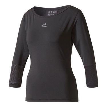 adidas London Line 3/4 Sleeve Top - Black