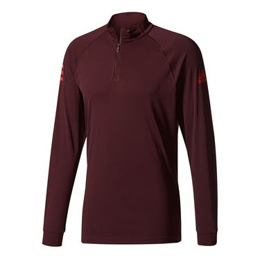 adidas Club 1/2 Zip Midlayer - Dark Burgundy