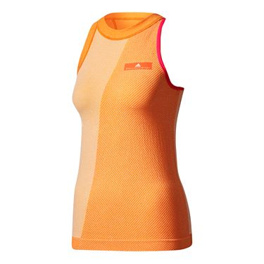 adidas Stella McCartney Barricade Tank - White/Radiant Orange
