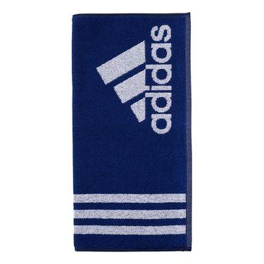 adidas Striped Logo Towel - Mystery Ink/White