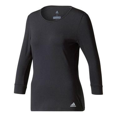 adidas Advantage 3/4 Sleeve Top - Black