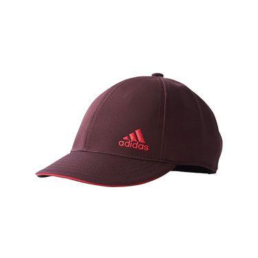 adidas Tennis Climalite Womens Hat - Dark Burgundy/Energy Pink