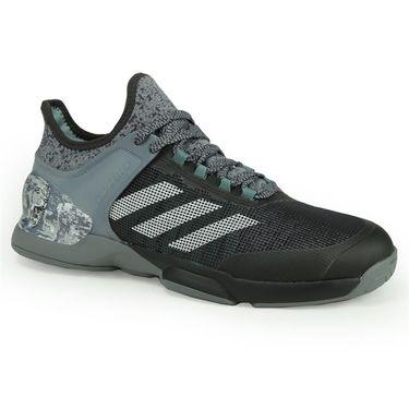 adidas adiZero Ubersonic 2 Street Art Mens Tennis Shoe - Grey/White/Steel/Black
