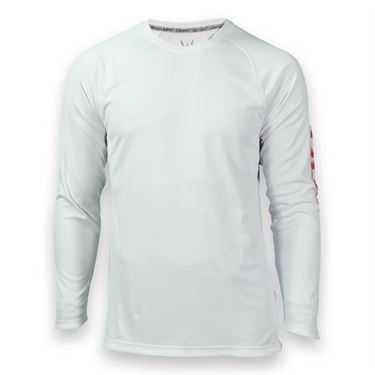 Solfire Elevate Dynamic Long Sleeve Crew - White/High Risk Red