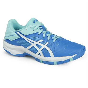 Asics Gel Solution Speed 3 Junior Tennis Shoe - Aqua Splash/White/Diva Blue