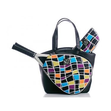 Court Couture Cassanova Multi Color Tennis Bag - Black/Multi
