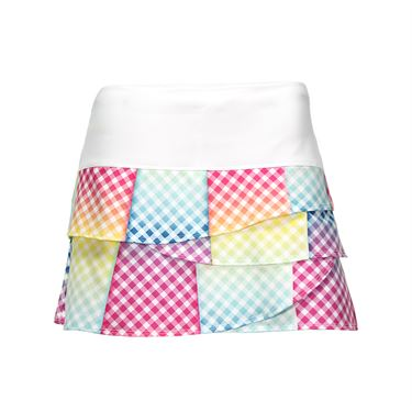 Lucky in Love Gingham Style Scallop Skirt - Multi