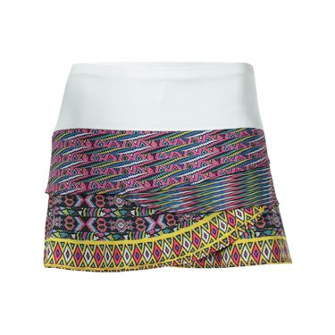 Lucky in Love Queen Bead Scallop Skirt  - White/Multi