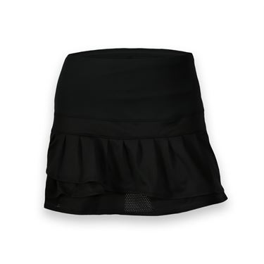 Lucky in Love Off the Grid Long Tier Skirt - Black