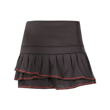 Lucky in Love Spot On Long Pleated Tier Skirt - Shale Grey