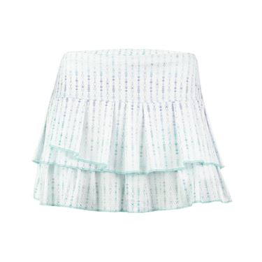 Lucky in Love Desert Shore Ditsy Pleat Tier Skirt - Lagoon