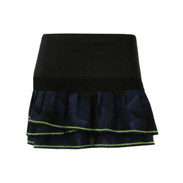 Lucky in Love Starburst Long Pleat Tier Skirt - Slate