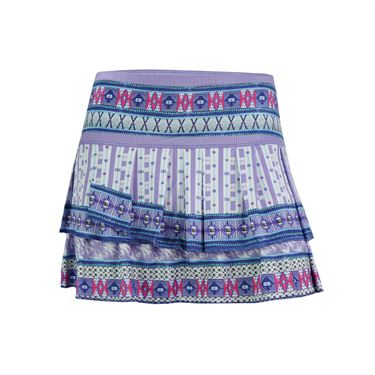 Lucky in Love Divine Pleat Tier Skirt - Multi Color
