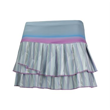 Lucky in Love Fast Track Pleat Tier Skirt - Blue Mist