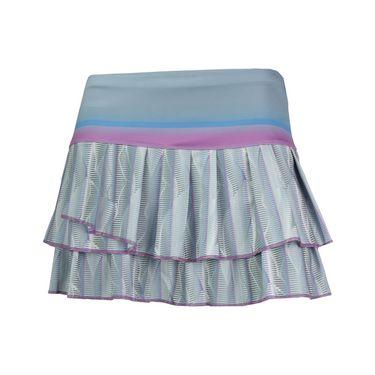 Lucky in Love Fast Track Pleat Tier Skirt - Blue Mist