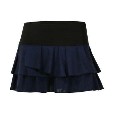 Lucky in Love Starburst Metallic Spray Pleat Tier Skirt - Slate