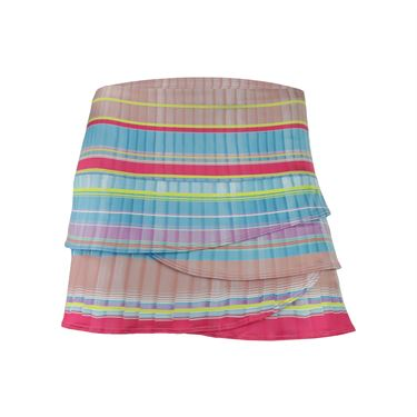 Lucky in Love Pleats Please Scallop Skirt - Multi Color
