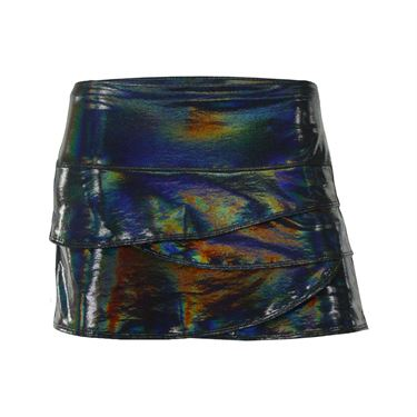 Lucky in Love Iridescent Scallop Skirt - Black