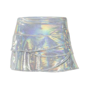 Lucky in Love Iridescent Scallop Skirt - White