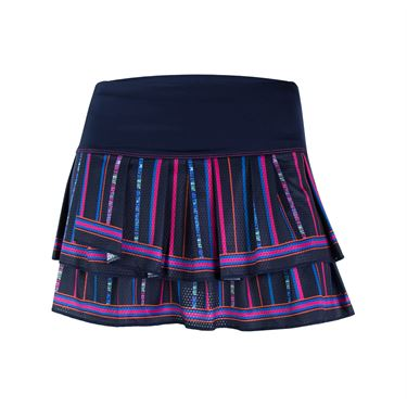 Lucky In Love Athena Colosseum Pleat Tier Skirt - Midnight