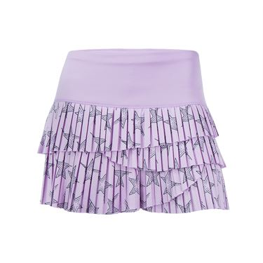 Lucky in Love Hyper Wave Star Pleated Scallop Skirt - Viola