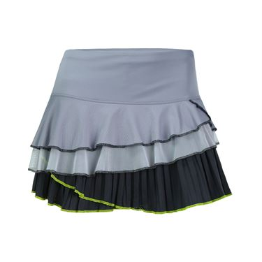 Lucky In Love Mesh Rally Pleat Tier Skirt - Charcoal Grey