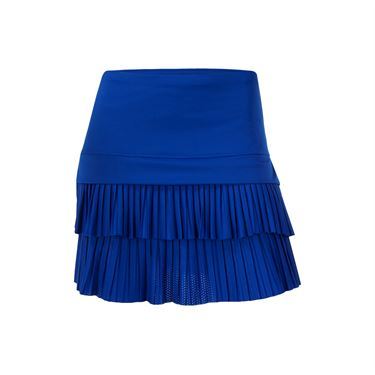 Lucky in Love Technicolor Long Double Pleat Skirt - Sapphire