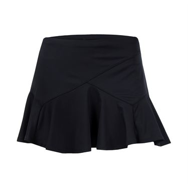 Lucky in Love Hyper Wave Ricochet Flounce Skirt - Black