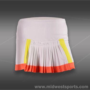 Lucky in Love Petal Power Color Block Skirt-Orange