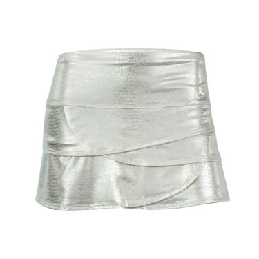 Lucky in Love Slither Scallop Skirt - Champagne