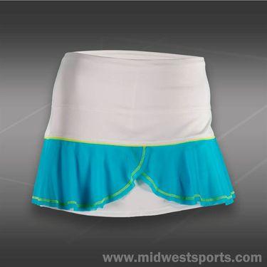 Lucky in Love Modern Mayan Flounce Skirt-White