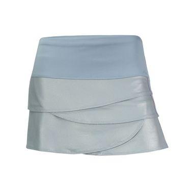 Lucky in Love Fast Track Metal Twist Scallop Skirt - Blue Mist