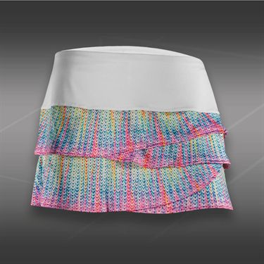 Lucky in Love Sequin Scallop Skirt-Multi Color