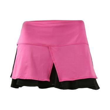 Lucky in Love Neo Geo Tuxedo Tier Skirt - Pinkberry/Black