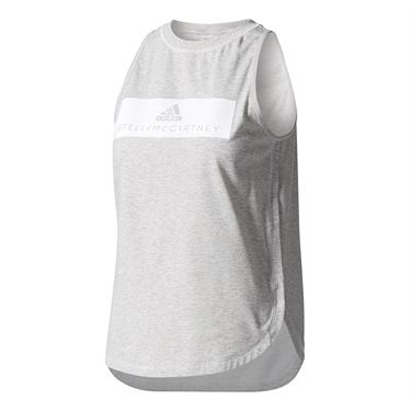 adidas Stella McCartney Essence Logo Tank - Grey Heather