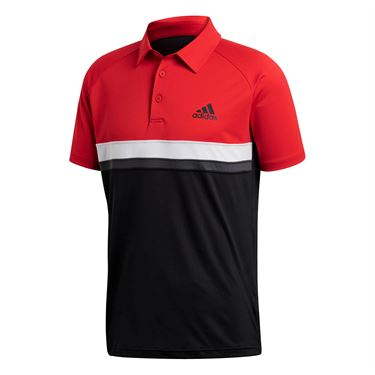 adidas Club Color Block Polo - Scarlet